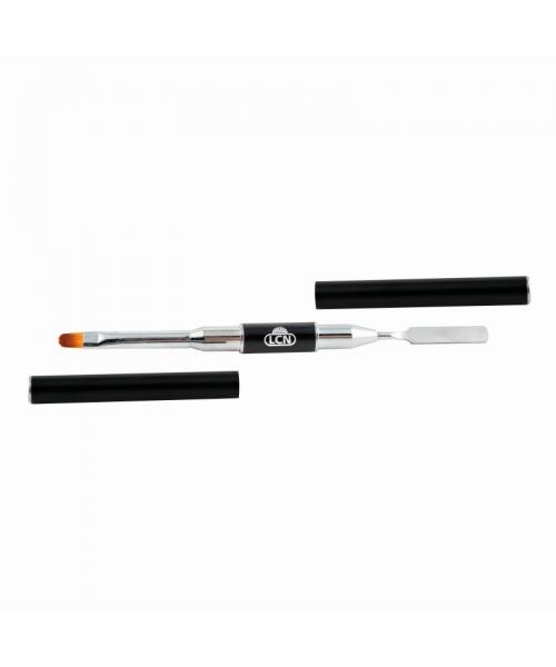 Инструмент с костью и лопаткой для полигеля - Fusion gel double tool