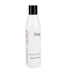 Шампунь 2 в 1 для всех типов волос Nua